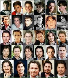 Evolution of Christian Bale Celebrities Then And Now, Young Celebrities, Celebs, American Psycho, American Actors, Chris Bale, Batman Christian Bale, Alice And Wonderland Quotes, The Bale