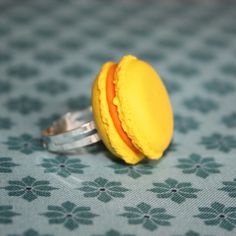 Yellow French Macaron Ring by MademoiselleCaro on Etsy, €5.00