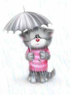 View album on Yandex. Kitten Cartoon, Cute Cartoon, Cute Baby Animals, Animals And Pets, Girly M, Amazing Gifs, Blue Cats, Animal Drawings, Animals Beautiful
