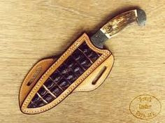 Image result for how to make a leather cross draw knife sheath