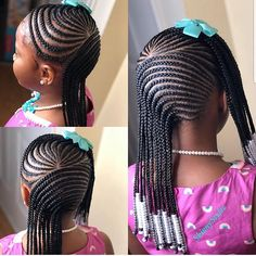 Braids for Kids – 50 Splendid Braid Styles for Girls – The Right Hairstyles . Braids for Kids – 50 Little Girl Braid Styles, Kid Braid Styles, Little Girl Braids, Black Girl Braids, Braids For Kids, Girls Braids, Girl Hair Braids, Toddler Braids, Kid Braids