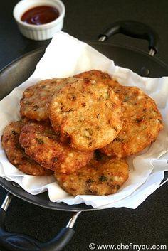 Sabudana Vada Recipe | Sago Wada | Tapioca Fritters Recipe (how many pins will it take b4 I finally make these? )