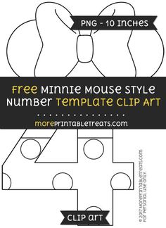 Free Minnie Mouse Style Letter R Template  Clipart  Minnie Mouse