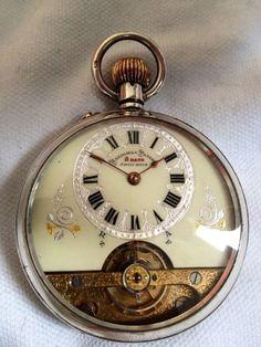 *HEBDOMAS* Quality Solid Silver Pocket Watch. (WORKING). *1911* London Mark.