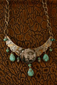 Vintage Cowgirl Scalloped Necklace Number Two by rochellemybelle, $125.00