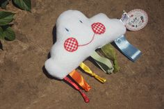 Cloud & Rainbow Sensory Baby Soft Handmade Taggy Toy Plushie by TulipDesignsShop on Etsy