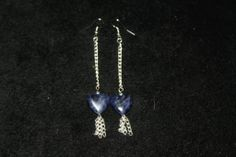Silver & Sodalite Hearts Earrings