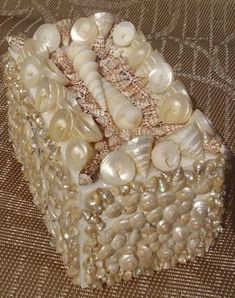 3x3x5 Seashell tresure trinket box. Make the size bigger to use as a tissue box.