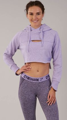 The Women's Cropped Raw Edge Hoodie will ensure you stay a step ahead with a raw edge design, unique crossover cuffs and stepped hem. Teen Girl Outfits, Sporty Outfits, Athletic Outfits, Outfits For Teens, Cute Outfits, Fashion Outfits, Fashion Trends, Trending Fashion, Fitness Outfits