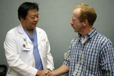 Dr. Michael Chang, Mercy General cardiologist, and Walt Lytle