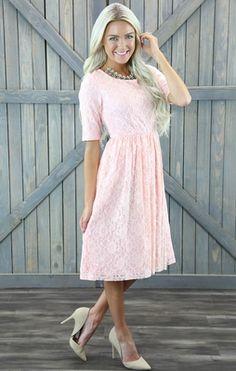 Light Pink Modest Dresses