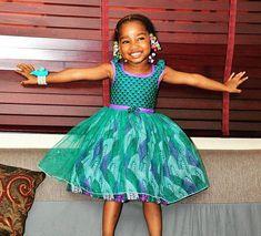 Temmie House Of Fashion: Stunning Ankara Style For Kids Ankara Styles For Kids, African Dresses For Kids, African Children, African Print Dresses, African Print Fashion, African Women, African Prints, African Attire, African Wear