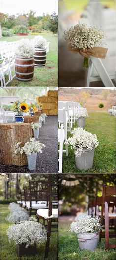 Rustic Baby's Breath Gypsophila Wedding Decor Ideas / http://www.deerpearlflowers.com/rustic-budget-friendly-gypsophila-babys-breath-wedding-ideas/4/