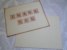 Blank Thank You Cards  Set of 50  Scrabble by TheTrendySparrow, $20.00