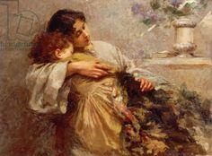 Orphans, 1896, by Giuseppe Mentessi (1857-1931)