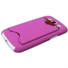 MiniSuit's new Credit Card Holder for Samsung Galaxy S3 III i9300 features a built-in slot! This innovative case protects with funky fresh function. Hide an extra credit card, ID card, or extra cash in the back of this case and be instantly smart, s