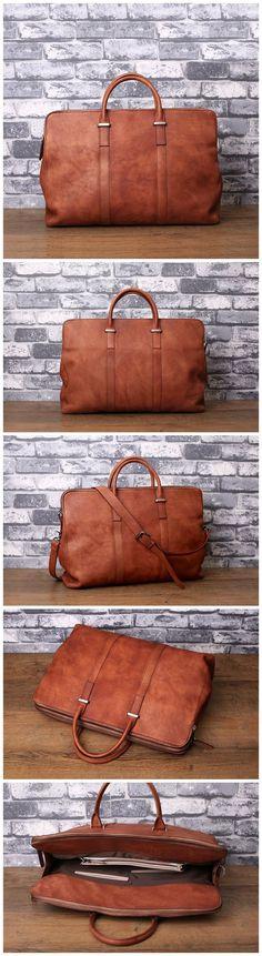 Full Grain Leather Men's Briefcase Handmade Large Business Bag Vintage Laptop Bag 14119 Vintage Leather, Vintage Men, Leather Men, Briefcase For Men, Leather Briefcase, Photography Bags, Canvas Leather, Laptop Bag, Leather Craft
