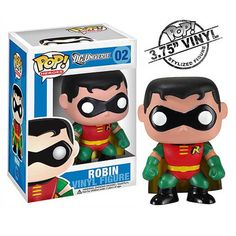 This is the Robin POP Vinyl from Funko's DC Universe Heroes line of figures. As far as Robin POP Vinyl's go, this version is pretty sweet. Robin looks exactly like he should. His outfit and general lo