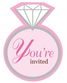 Whether you are having an engagement party or bridal shower, this diamond ring design invitation is perfect.