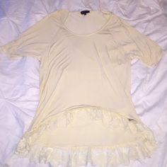 Beautiful Lace Top From Nasty Gal, size small, and a gorgeous pale yellow color, perfect for spring/summer. Could fit a medium as well! Nasty Gal Tops