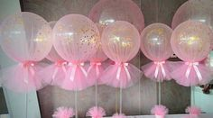 Home Decor Living Room Pink and Gold Confetti Tulle Balloons.Home Decor Living Room Pink and Gold Confetti Tulle Balloons Shower Party, Baby Shower Parties, Baby Shower Themes, Diy Shower, Baby Shower Balloons, Gold Shower, Baby Balloon, Balloon Arch, Shower Favors