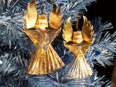 West German Art Deco Feather Tree Ornament by MargaretsPlace, $18.88