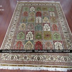 silk handmade rugs,5.5x8ft
