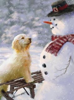 Leading Illustration & Publishing Agency based in London, New York & Marbella. Merry Christmas To All, Christmas Scenes, Christmas Cats, Vintage Christmas, Christmas Time, Xmas, Illustration Noel, Christmas Illustration, Cute Snowman
