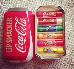 Soft drink lip smackers