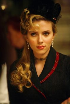 Scarlett Johansson as Olivia Wenscombe in The Prestige. - steampunk (great hairstyle)