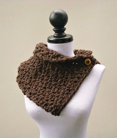 Crochet Pattern  Crochet Cowl Scarf  The Lucienne