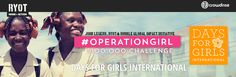 #operationgirl #daysforgirls team -- we can DO THIS!  Donate $10 this week to help GIRLS everywhere WIN!
