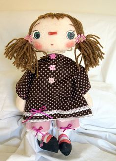 IRENE.  Dolls with heart Raggedy - Doll style with Heart Raggedy style