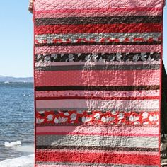 Strip quilt...love the different strip widths