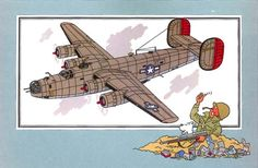 "Guerre 35 : Consolidated B-24 J "" Liberator """