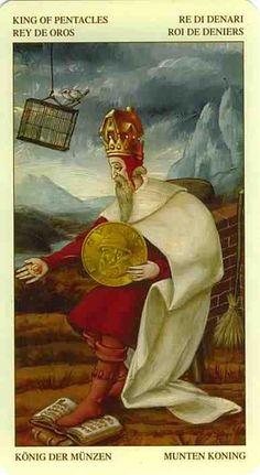 Bruegel Tarot (artwork by Guido Zibordi Marchesi) - King of Pentacles