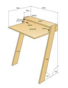 DIY Mini Laptop Desk