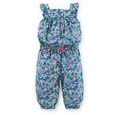 A jersey jumpsuit is a must-have for every baby girl's wardrobe. Flutter sleeves and floral print make this soft and easy 1-piece super cute.