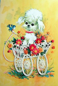 Vintage dogs are so cute.  Be sure to visit my blog Kitsch n Stuff http://cdiannezweig.blogspot.com/ and my website I Antique Online.com http://iantiqueonline.ning.com/