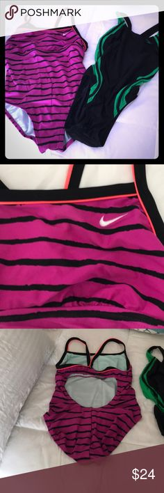 Swimming wear Speedo and Nike Good condition two one piece swimming suits , I was a size 4 when I use them Swim One Pieces