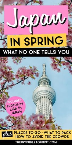 Visiting Japan in spring? Ultimate Japan spring guide covers where to explore Japan during cherry blossom season, how to enjoy Japan sakura spots, what to pack for Japan in spring, Japan travel tips to avoid crowds, things to do in Japan, spring festivals in Japan and more. Features inspirational Japan travel photography by professional Tokyo photographer Lisa in Japan. Learn everything you need to know for your Japan vacation and Japan bucket list! | The Invisible Tourist x Lisa in Japan