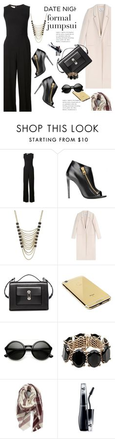 """""""Date Night: Jumpsuit Style"""" by janephoto ❤ liked on Polyvore featuring мода, STELLA McCARTNEY, Tom Ford, Lane Bryant, Acne Studios, Balenciaga, Goldgenie, Valentino, BP. и Clinique"""