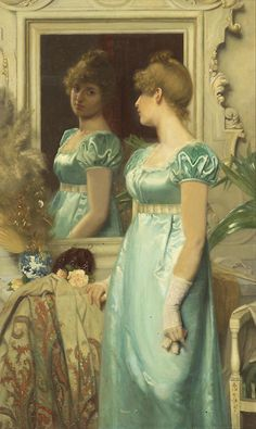 Maria Wilhelmina Wandscheer (1856-1936) - Before the ball, 1886
