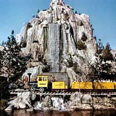 Frontierland Pre Thunder Mountain Railroad at Disneyland via WaltDisneyLand