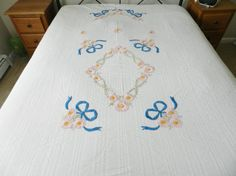 1940s Bedspread Vintage Bedspread by DawnsCountryCottage on Etsy