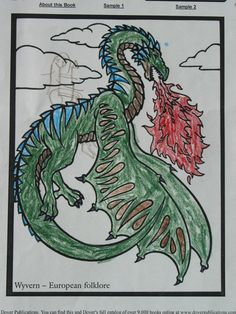 Scott R. (Under 12 division) from Legendary Dragons  Stained Glass Coloring Book: http://store.doverpublications.com/0486462242.html