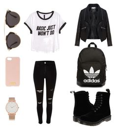 """""""Cute"""" by disneygirlfaith on Polyvore featuring beauty, H&M, adidas Originals, Zizzi, Dr. Martens, Larsson & Jennings, Christian Dior and Henri Bendel"""