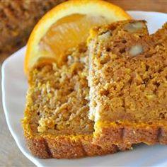 Orange Pumpkin Loaf Allrecipes.com