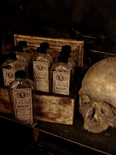 Pain Killer, Old Medicine Bottles, priced each