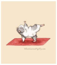 Large Animals, Animals And Pets, Baby Animals, Cute Animals, Pintura Yoga, Yoga Cartoon, Animal Yoga, Flower Art Drawing, Baby Guinea Pigs